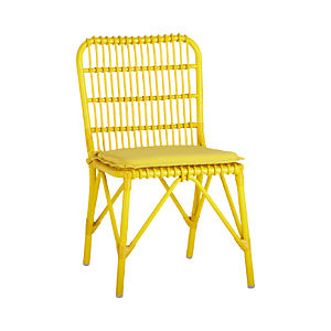 Kruger Sulfur Dining Chair with Sunbrella® Sulfur Cushion