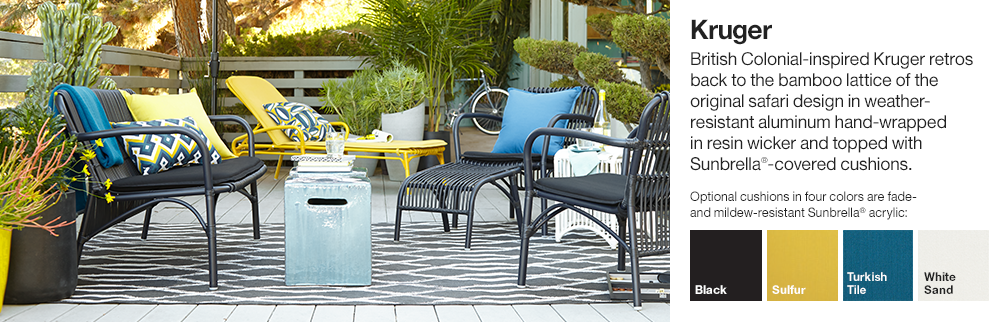 outdoor furniture and accessories crate and barrel
