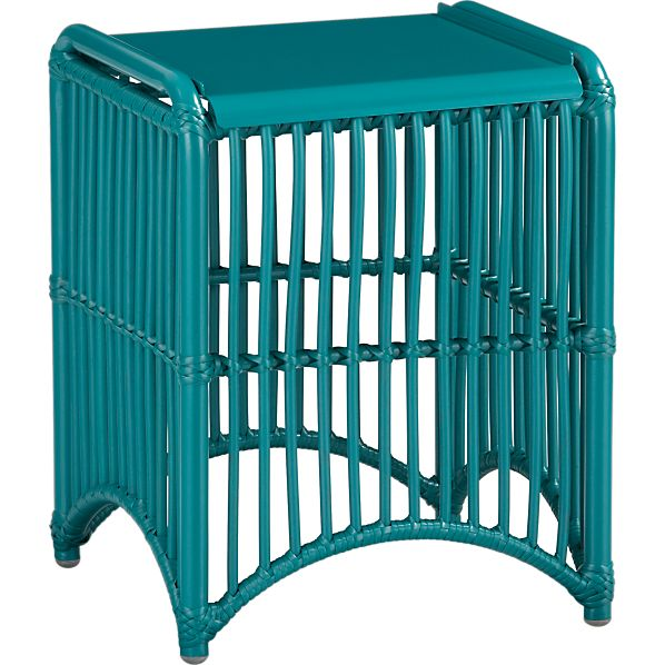 Kruger Harbor Blue Side Table