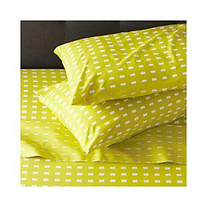 Marimekko Kullervo Citron Sheet Sets