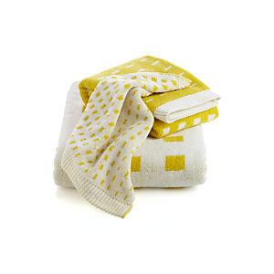 Marimekko Kullervo Citron Bath Towels