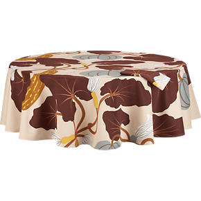 Marimekko Kumina Neutral 72 Round Tablecloth
