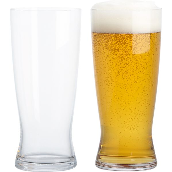 Set of 2 Spiegelau Lager Beer Glasses