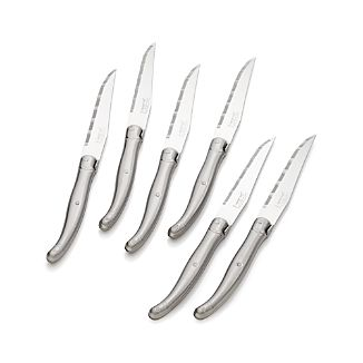 Laguiole® Stainless Steel Steak Knives Set of Six
