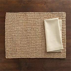 Lanai Placemat and Cotton Ecru Napkin