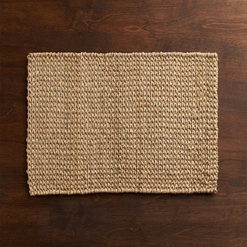Lanai's intricate weave and pale neutral color represent an earthy yet sophisticated take on the fiber placemat.<br /><br /><NEWTAG/><ul><li>100% abaca placemat</li><li>Clean with a dry cloth</li><li>Made in The Philippines</li></ul>