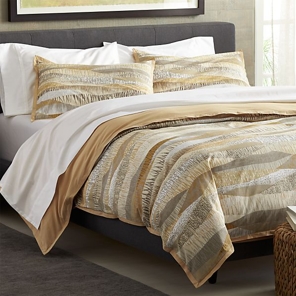 Landscape duvet covers and pillow shams crate and barrel for Crate barrel comforter