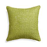 "Lanzo Green 18"" Pillow with Feather-Down Insert"