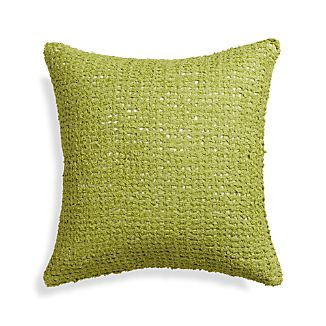 "Lanzo Green 18"" Pillow with Down-Alternative Insert"