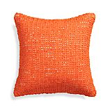 "Lanzo Orange 18"" Pillow with Down-Alternative Insert"