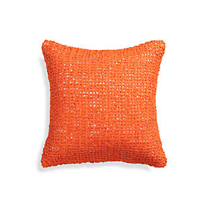 "Lanzo Orange 18"" Pillow"