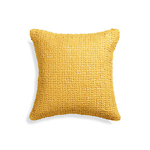 "Lanzo Yellow 18"" Pillow"