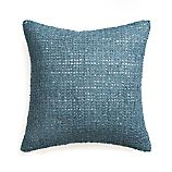 "Lanzo Blue 20"" Pillow with Down-Alternative Insert"