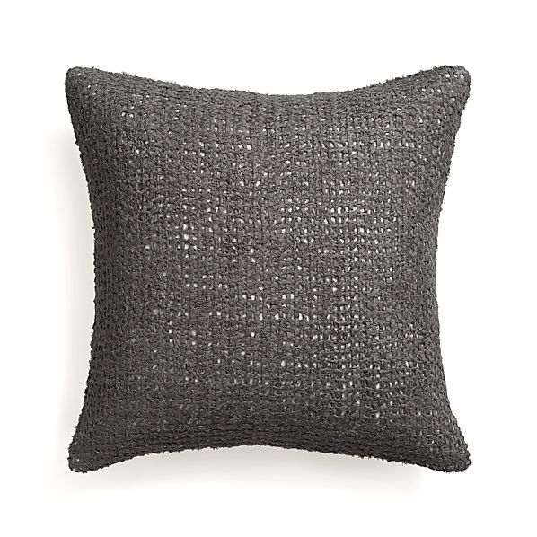 "Lanzo Grey 20"" Pillow with Down-Alternative Insert"