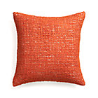 Lanzo Orange Pillow with Feather Insert.