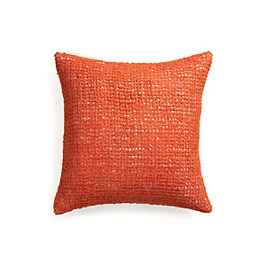 "Lanzo Orange 20"" Pillow with Feather Insert"