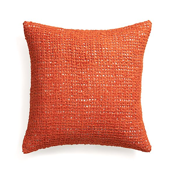 "Lanzo Orange 20"" Pillow"