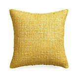 "Lanzo Yellow 20"" Pillow with Feather Insert"