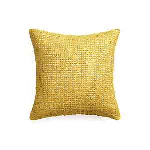 "Lanzo Yellow 20"" Pillow with Down-Alternative Insert"