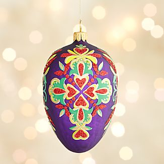 Lara Purple Egg Ornament