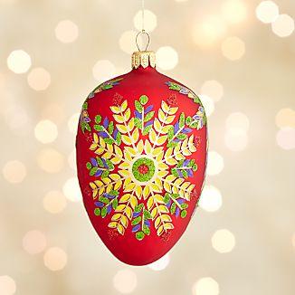 Lara Red Egg Ornament