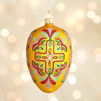 Lara Yellow Egg Ornament