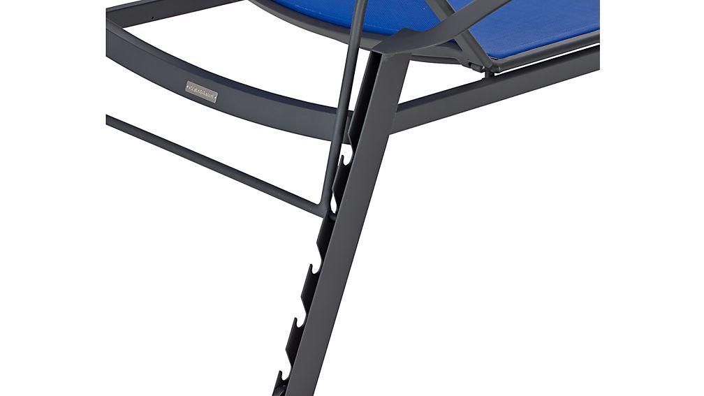 Largo mediterranean blue mesh chaise lounge in largo for Blue mesh chaise lounge