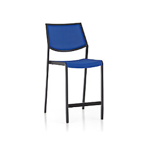 Largo Mediterranean Blue Mesh Counter Stool