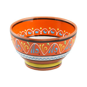 Las Ramblas 6 Orange Footed Bowl