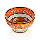 "Las Ramblas 6"" Orange Footed Bowl."