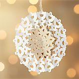 Laser-Cut Silver Snowflake Ornament