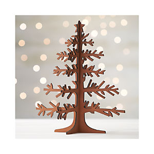 Laser-Cut Tree with Star