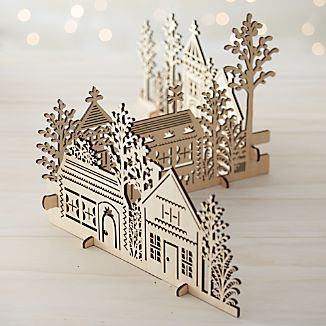3-Piece Laser-Cut Village