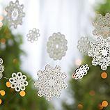 Laser-Cut Wood Snowflake Garland