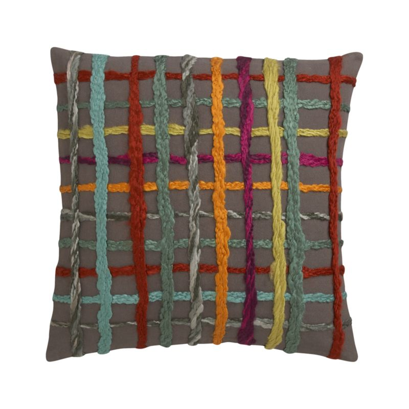 """Latitude 18"""" Pillow with Feather-Down Insert"""