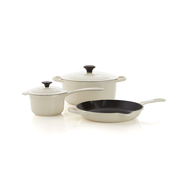 Le Creuset® Cream 5-Piece Cookware Set
