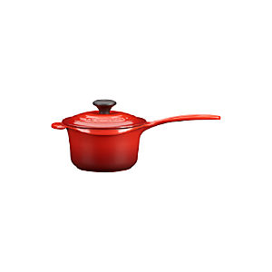 Le Creuset® 1.25 qt. Cherry Saucepan with Lid