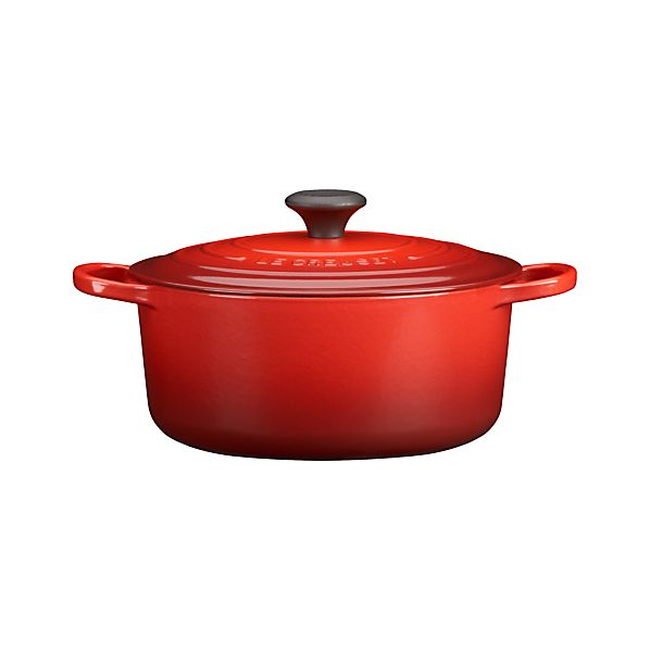 Le Creuset® Round Cherry 5.5 Quart French Oven with Lid