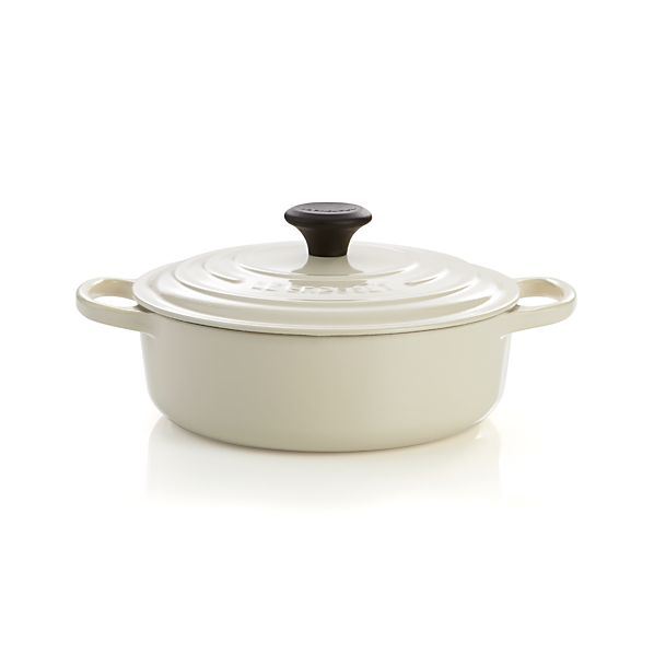 Le Creuset® Signature Wide Round Cream French Oven with Lid