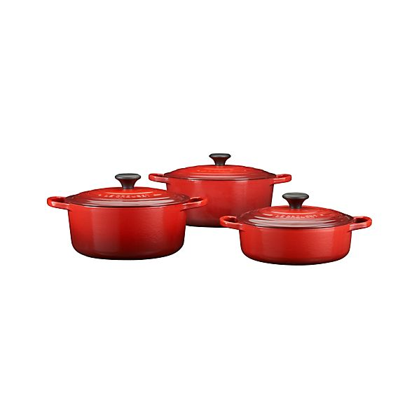 Le Creuset ® Signature Cherry French Ovens with Lids