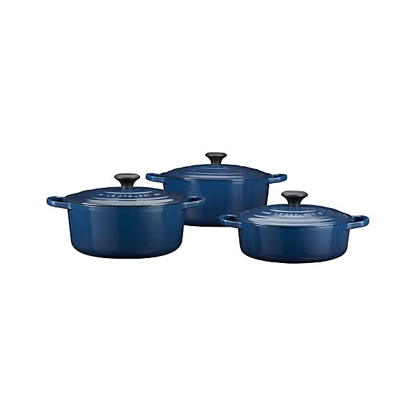 Le Creuset® Signature Round Ink French Ovens with Lids