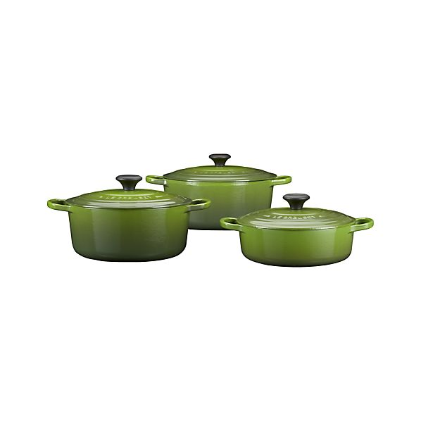 Le Creuset® Round Spinach French Ovens with Lids