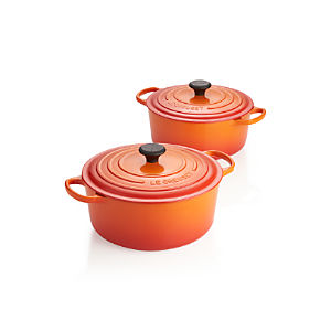 Le Creuset ® Signature Flame Round French Ovens