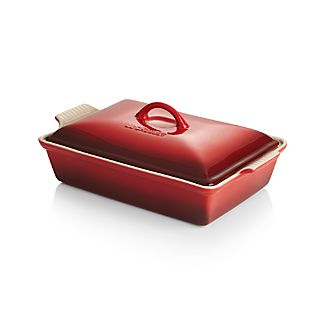 Le Creuset ® Heritage Covered Rectangle Cherry Baking Dish