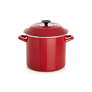 Le Creuset® 10 qt. Red Enamel Stock Pot with Lid