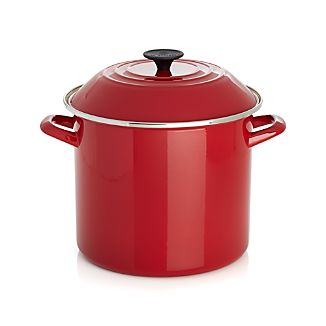 Le Creuset® Red Enamel Stock Pot with Lid