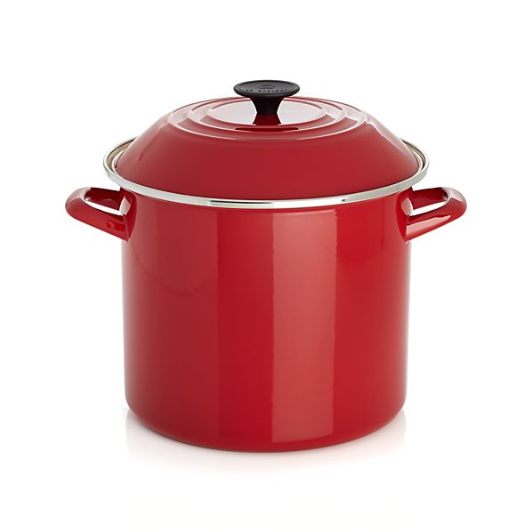 Le Creuset ® 10 qt. Red Enamel Stock Pot with Lid