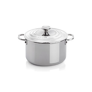 Le Creuset® Signature 4 qt. Stainless Steel Casserole with Lid