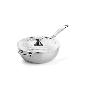 Le Creuset® Signature 3.5 qt. Stainless Steel Saucier with Lid