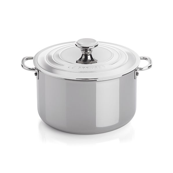 Le Creuset® Signature Stainless Steel 7 qt. Stock Pot with Lid
